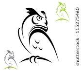 Horned Owl   Vector Illustration