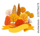 background with autumn stylized ... | Shutterstock .eps vector #1152756173