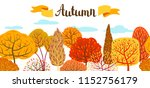 banner with autumn stylized... | Shutterstock .eps vector #1152756179