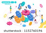 isometric concept developing... | Shutterstock .eps vector #1152760196