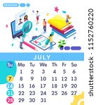 isometric month july from set... | Shutterstock .eps vector #1152760220