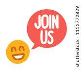join us. vector illustration on ... | Shutterstock .eps vector #1152772829