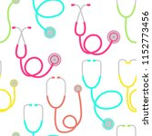 pattern with stethoscope icon | Shutterstock .eps vector #1152773456