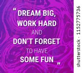 motivation quote on abstract... | Shutterstock . vector #1152775736