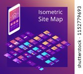 concept of isometric website...