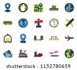 colored vector icon set  ... | Shutterstock .eps vector #1152780659