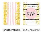 bridal shower set with dots and ... | Shutterstock .eps vector #1152782840