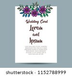 Invitation Card With Flowers...