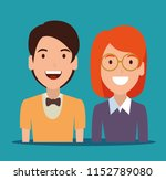 young couple avatar character | Shutterstock .eps vector #1152789080