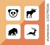 wilderness icon. 4 wilderness... | Shutterstock .eps vector #1152790106