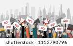 crowd of people protesters.... | Shutterstock .eps vector #1152790796