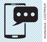 sms icon with smartphone. sms... | Shutterstock .eps vector #1152799319