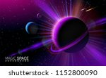 abstract space background with... | Shutterstock .eps vector #1152800090
