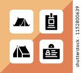 holder icon. 4 holder set with... | Shutterstock .eps vector #1152800639