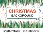 winter holiday background.... | Shutterstock .eps vector #1152802049