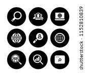 9 browser icons in vector set.... | Shutterstock .eps vector #1152810839