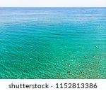 azure sea water texture... | Shutterstock . vector #1152813386