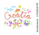 croatia concept illustration.... | Shutterstock .eps vector #1152816749
