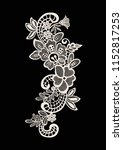 neck embroidery  lace print in... | Shutterstock .eps vector #1152817253