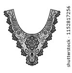 neck embroidery  lace print in... | Shutterstock .eps vector #1152817256