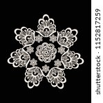 neck embroidery  lace print in... | Shutterstock .eps vector #1152817259