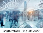 rush hour business in modern... | Shutterstock . vector #1152819020