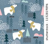 seamless pattern with polar... | Shutterstock .eps vector #1152819896
