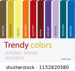 autumn winter 2018 2019 color... | Shutterstock .eps vector #1152820580