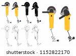 welding tool   grinders | Shutterstock .eps vector #1152822170