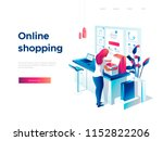 sale  consumerism and people... | Shutterstock .eps vector #1152822206