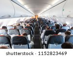 interior of commercial airplane ... | Shutterstock . vector #1152823469