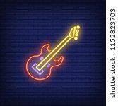 bass guitar neon sign. glowing... | Shutterstock .eps vector #1152823703