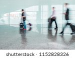 blurred people at airport   Shutterstock . vector #1152828326