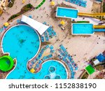 aerial drone view looking... | Shutterstock . vector #1152838190