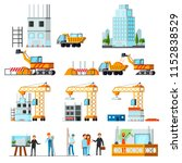 sky scraper construction set of ... | Shutterstock .eps vector #1152838529