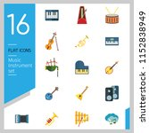 music instrument icon set. drum ...   Shutterstock .eps vector #1152838949