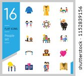 people icon set. family showing ... | Shutterstock .eps vector #1152839156
