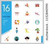 japan icon set. japanese kite... | Shutterstock .eps vector #1152840590
