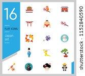 japan icon set. japanese kite... | Shutterstock .eps vector #1152840590