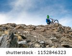 mountain biker in fullface...   Shutterstock . vector #1152846323
