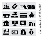 money icons | Shutterstock .eps vector #115284700