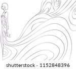 girl wearing waterfall dress | Shutterstock . vector #1152848396