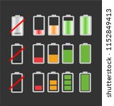 simple colorful battery charge... | Shutterstock .eps vector #1152849413