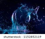 Blue And Purple Water Splashin...