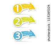 vector paper progress... | Shutterstock .eps vector #115285324