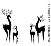 abstract of silhouettes of... | Shutterstock .eps vector #1152855143