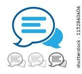 speech bubble chat vector icon | Shutterstock .eps vector #1152860606
