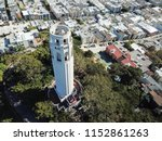 aerial view coit tower and... | Shutterstock . vector #1152861263