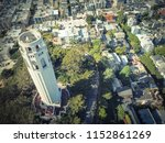 aerial view coit tower and... | Shutterstock . vector #1152861269