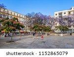 malaga  spain   june 2  2018 ... | Shutterstock . vector #1152865079
